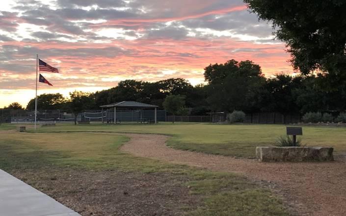 JJ Pearce HOA Park at sunset