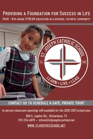St. Joseph Catholic School ad