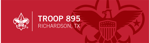 Boy Scout Troop 895 logo, Richardson, Texas